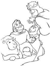 daniel lions den coloring bible coloring pages