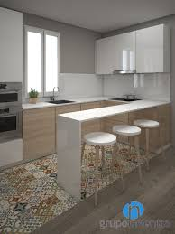 con tono y columna en roble kitchens pinterest kitchens