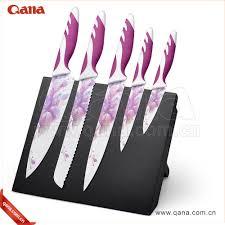 colorful kitchen knives 5 pcs non stick coating knife set 5 pcs non stick coating knife