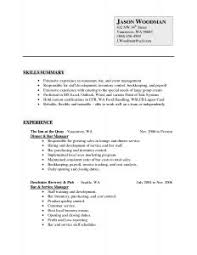 examples of resumes good with no work experience sample resume