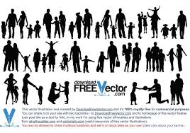 free silhouette images family silhouette vector file vecteezy com