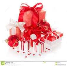 new year box bright gift boxes and new year s balls stock image image 35180421