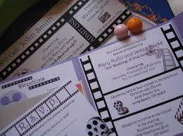 Movie Ticket Wedding Invitations Black Purple Silver White Ceremony Programs Fall Invitations Place