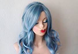 ombre wig lace front wig pastel gray blue 1960 u0027s