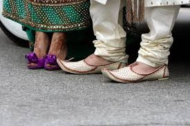 wedding shoes chagne the details purple indian wedding shoes