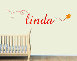 decal with a flying bird custom made name sticker for boys and name decal with a flying bird