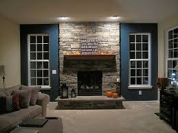 Stone Wall Tiles For Living Room Natural Stone Wall In The Living Room Fireplace Beige Http