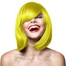 banana hair yellow hair dye neon canary semi permanent color banana hair dye