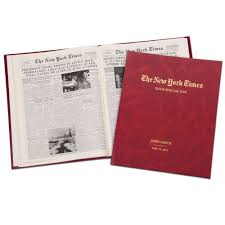 the new york times gt the complete new york times of your birth date hammacher schlemmer