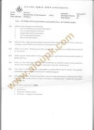 introduction to environment code 1421 u2013 aiou old papers spring 2013