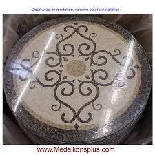 bordeaux 48 polished mosaic floor medallion medallionsplus com