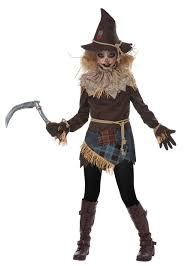Girls Scary Halloween Costumes Creepy Scarecrow Costume Girls