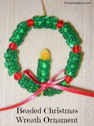 beaded wreath ornament craft