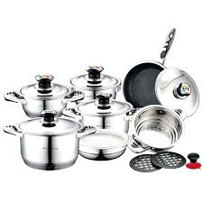 ustensile cuisine induction ustensile cuisine induction batterie de cuisine batterie 16 pcs inox