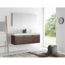 walnut bathroom vanity fresca vista 60