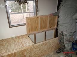 creating storage in a mobile home with a window seat window
