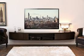 cabinet elegant living room design with dark wood floating tv