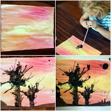 5 fall crafts for kids halloween painting tree crafts and craft