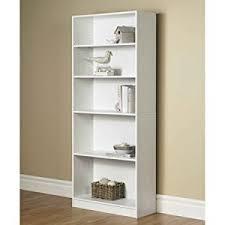 1 Shelf Bookcase Amazon Com Orion Wide 5 Shelf Bookcase Multiple Finishes White