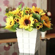 Sunflower Bouquets Online Shop 1 Bouquet Lifelike Artificial Sunflower Artificial