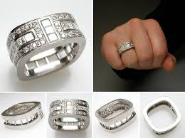 modern wedding rings for men the blend of ancient and modern in versace wedding rings
