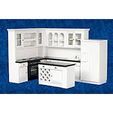 miniature dollhouse kitchen furniture dollhouse miniature 6 pc hillgrove kitchen set toys