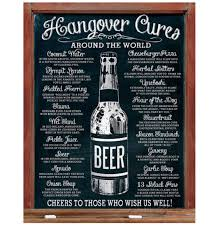 metal print hangover cures around the world