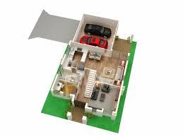 plain 3d house floor plan architecture design on plans home