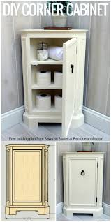 remodelaholic build a catalog inspired corner cabinet