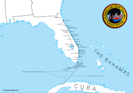 Map Of South Florida by The Florida East Coast Railway