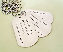 mens personalized dog tags personalized dog tag necklace custom sted trio of