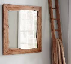 Pottery Barn Mirrors Bathroom by Live Edge Wood Wall Mirror Pottery Barn