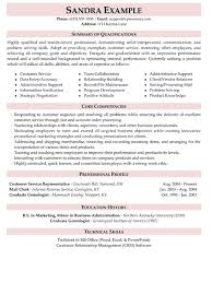 sample of customer service resume resume template and