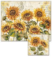 amazon com counterart tuscan sunflower glass cutting board and
