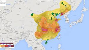 china on a map china s pollution on maps smog data shows 92 per cent