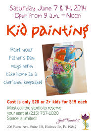 kids craft flyer judi painted it