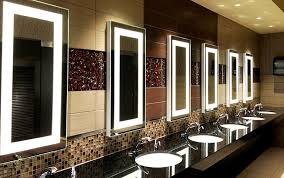 Commercial Bathroom Mirrors by Seura Lighted Mirrors Allegro Design Hard Rock Casino Hotel