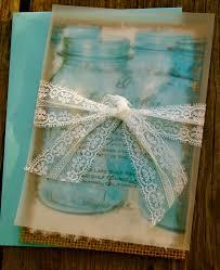 do it yourself mason jar lace and burlap wedding invitation