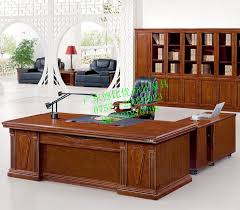 All Wood Computer Desk Gifted Office Furniture Solid Wood Desk Sets President Of High