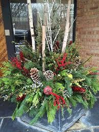 Outdoor Christmas Decorations Pots by 461 Best Outdoor Winter Arrangements Images On Pinterest