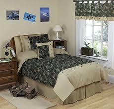 Army Bed Set Sweet Jojo Designs 4 Army Green Camo Children S