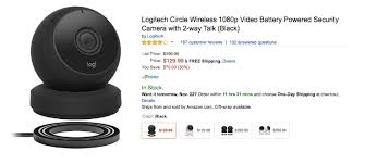 amazon black friday logitech update 109 99 now deal alert logi circle is available for