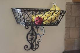 wall fruit basket simple solution to a crowded table a wall mount fruit basket