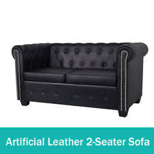Artificial Leather Sofa Faux Leather Sofas Loveseats And Chaises Ebay