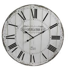 Wohnzimmer Uhren Holz Wanduhr Holz 60cm Xl Vintage Retro Uhr Bahnhofsuhr Landhaus Shabby