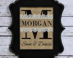 monogrammed wedding gift framed personalized burlap monogram gift monogrammed gifts