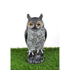 owl garden statue 1jpg 450600 jardim coruja motion sensor
