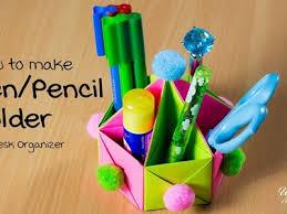 Origami Desk Organizer Holder How To Make Pen Pencil Holder Origami Box Diy Desk