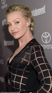 portias hair line portia de rossi displays her risqué side in sheer black number at