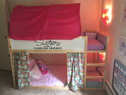 pictures of bunk beds for girls ikea girls kura bunk beds set up youtube